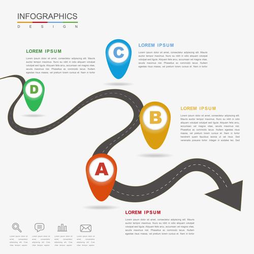 Road information background vector