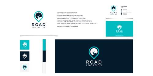 Road logo company business card vector