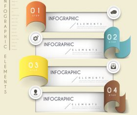 Roll up business infographic elements options vector