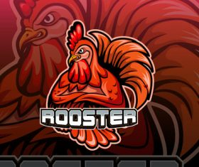 Rooster esports logo vector