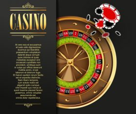 Roulette casino templates vector