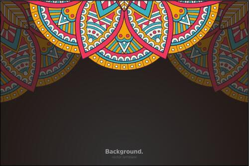 Round with sharp lace mandala vector