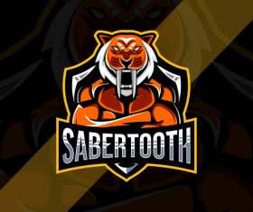 Sabertooth esport logo vector