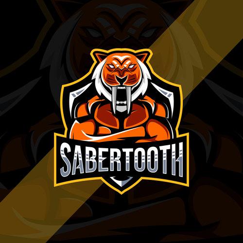 Sabertooth esport logo vector