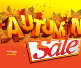Sale autumn banner vector