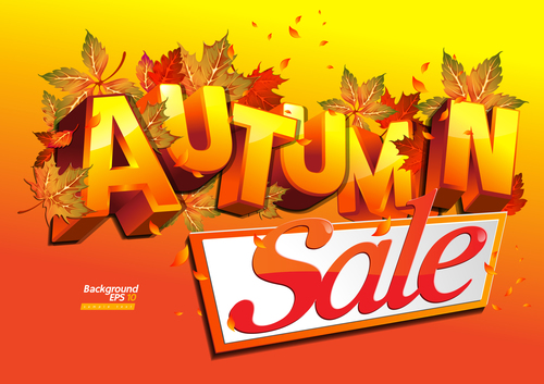 Sale autumn banner vector