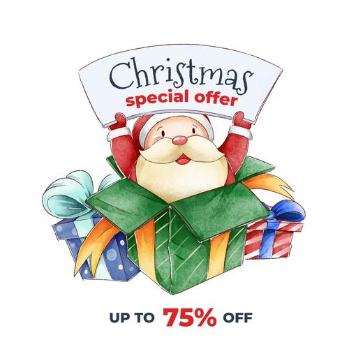 Santa Promotion Flyer Vector