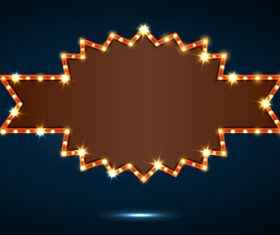 Shiny irregular billboard vector