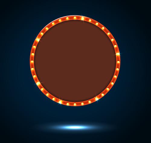 Shiny round billboard vector