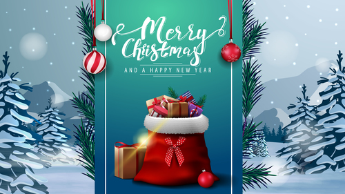 Shop your favorite Christmas gift promotional flyer vector