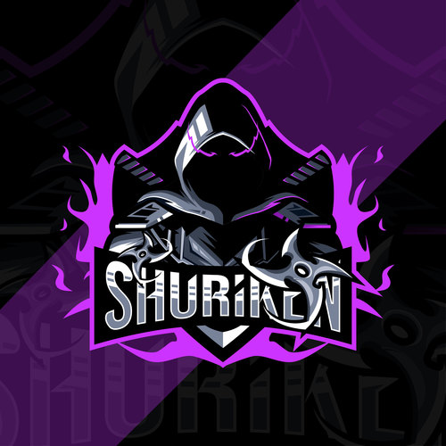 Shuriken esport logo vector