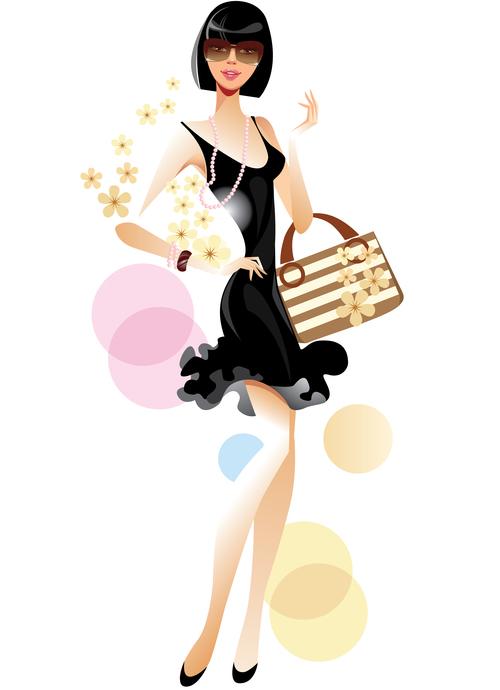 Slim fashion woman vector