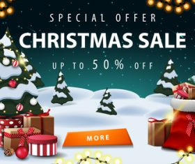 Special offer Christmas sale flyer vector