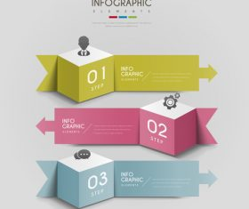 Square infographic element option vector