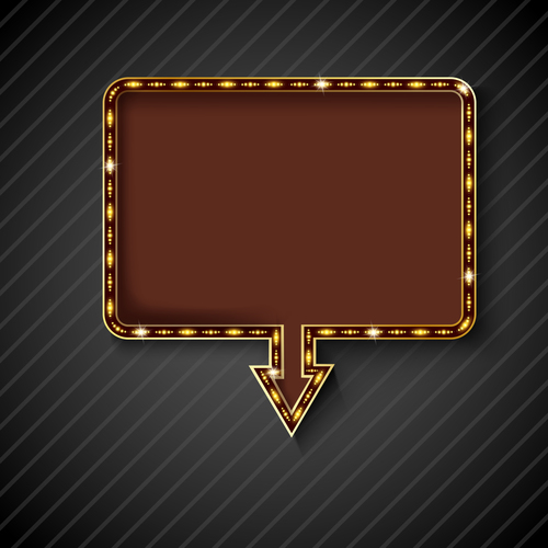 Square shiny billboard vector