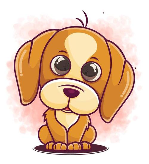 Squatting on the ground puppy cartoon icon vector