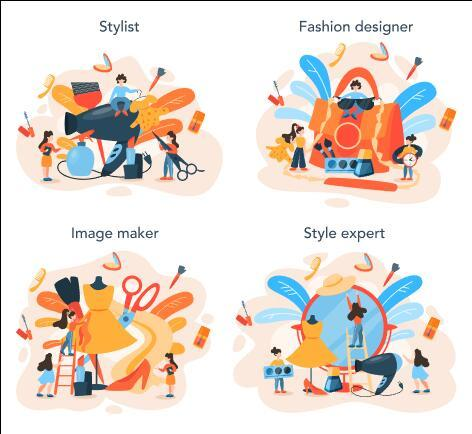 Style expert cartoon illustration vector