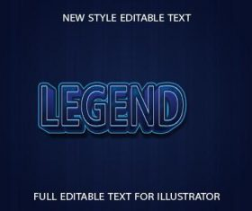 Text effect LEGEND 3d vector