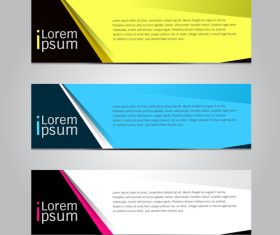 Three color banner vector