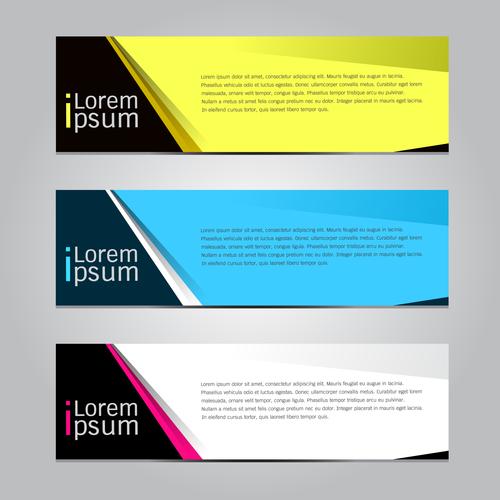 Three color banner vector