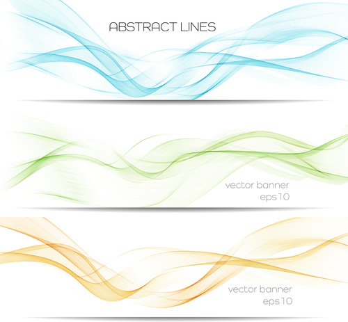Three color dynamic banner abstract background vector