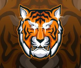 Tiger sports and athletics logo vector