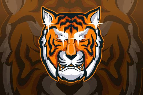 Tiger sports and athletics logo vector