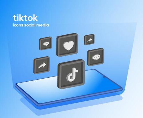 Tiktok icons social media vector