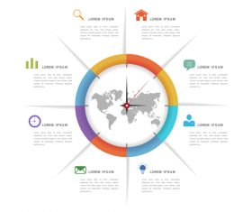 Time management information background vector