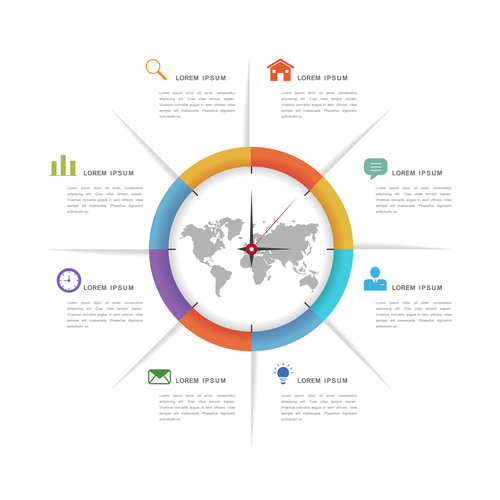 Time management information background vector