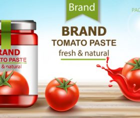 Tomato paste fresh natural vector