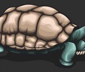 Tortoise hand drawn illustration vector