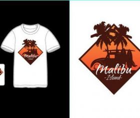 Tourist attractions T-shirt merchandise printing vector