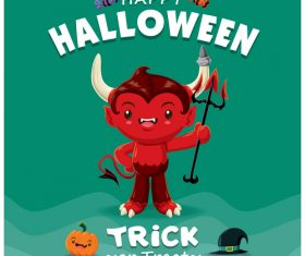 Trick or Treat halloween poster design vector