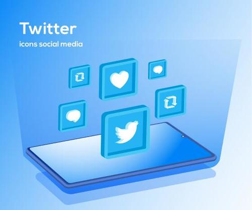 Twitter icons social media vector