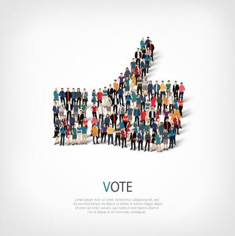VOTE mix icon vector