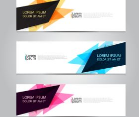 Various abstract background banner vector