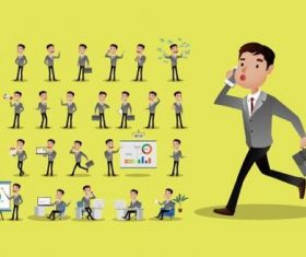 Various business person cartoon vector