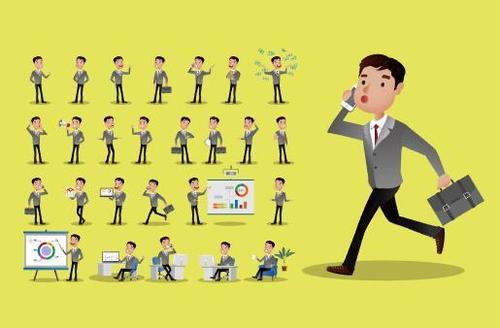 Various business person cartoon vector