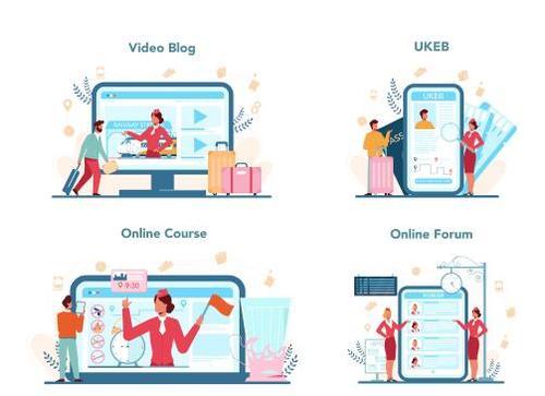 Volunteer online service vector