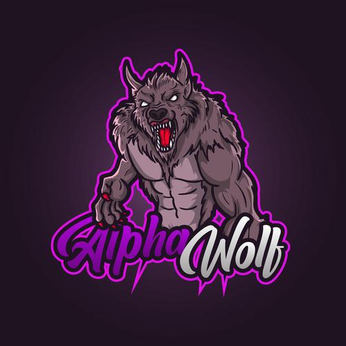 War wolf esport icon vector