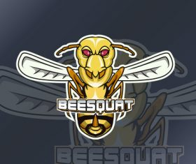 Wasp sports and esports logo vector