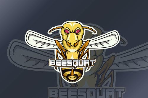 Wasp sports and esports logo vector