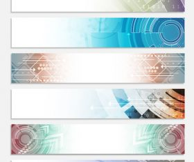 Web header set of vector banner