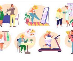 Weight loss illustration vector
