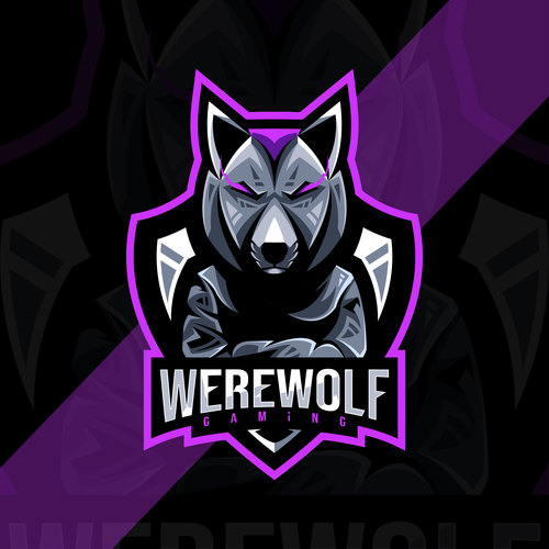 Werewolf esport logo vector