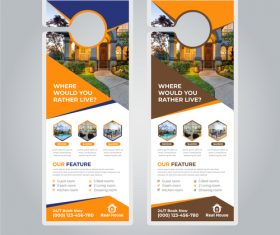 Where would you pather live business flyer vector