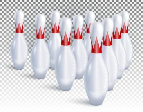 White bowling wooden bottle vector