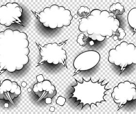White comic bubbles vector