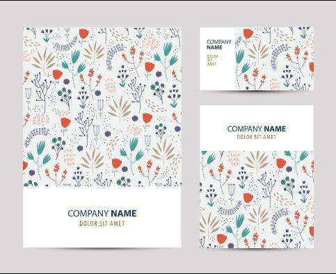 White printing pattern company business card vector